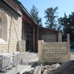 Building progresses and site kept tidy so church can still be used