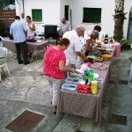 Barbecue in the church garden