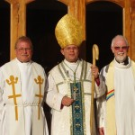 Bishop Michael, Archdeacon Bill and Canon Derek