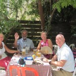 Patronal lunch in the church garden